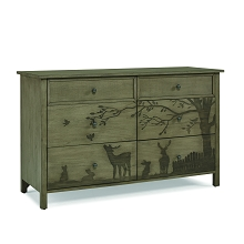 ED Ellen Degeneres Forest Animals Double Dresser Natural Grey