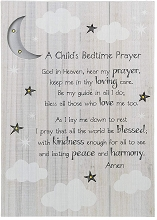 Ganz Child Bedtime Prayer Wall Plaque with Led Light
