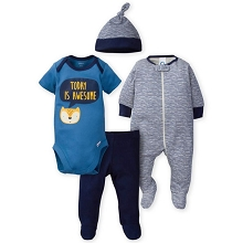 Gerber Fox 4 Pieces Take Me Home Set Boy, 6-9 Months