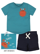 Gerber Crab Short Set 2 Piece Boy, 24 Months