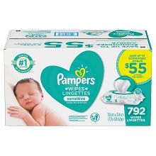 Pampers Baby Wipes Sensitive, 792 ct.