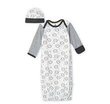Just Born® Baby Boys' 2-Piece Organic Lil' Lion Gown and Hat Set