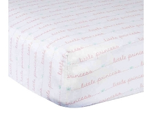 Gerber Little Princess Crib Fitted Sheet