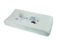 Just Born® One World Collection Changing Pad Cover Hello World