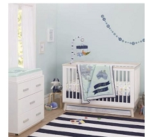 Just Born® One World Collection 3 Pieces Bedding Crib Set, Hello World