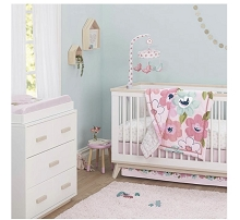 Just Born® One World Collection 3 Pieces Bedding Crib Set, Blossom