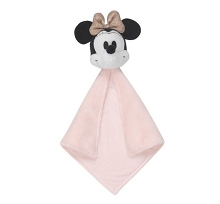 Lambs & Ivy Disney Baby Minnie Mouse Plush Security Blanket White-Pink