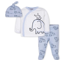 Gerber Elephant Take Me Home Set 3 Pieces, Boy Preemie