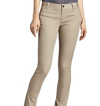 French Toast 50% Off School Uniform Girl Skinny Stretch Twill Pants, Khaki
