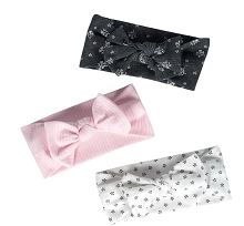 Just Born® Baby Girls' 3-Pack Organic Lil' Lamb Headbands