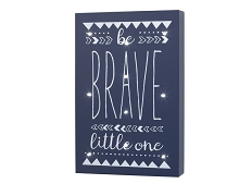 Little Love Nojo Light Up Wall Decor Be Brave Little One
