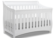 Delta Children Bentley Crib 4 in 1 Convertible, White