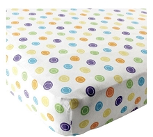 Luvable Friends Fitted Sheets Pack n Play, Yellow Geometric