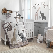 Lambs & Ivy Baby Jungle 4 Pieces Bedding Crib Set