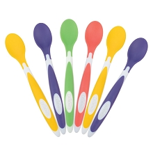 Dr. Brown's™ Soft-Tip Toddler Feeding Spoons, 6 Pack Multicolor
