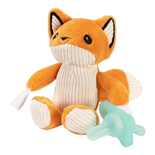 Dr Brown's Franny The Fox with Teal Lovey Pacifier