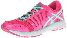 Asics 60% Off GEL-Lyte33 Running Shoe, Kids - Hot Pink/Ice Blue/Emerald