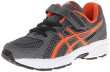 Asics 60% Off Pre-Contend 2 PS Running Shoe, Kids - Carbon/Orange Flame/Black