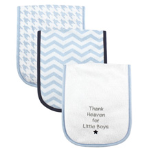 Luvable Friends 3 Pack Baby Burp Cloths, Thank Heaven For Little Boys