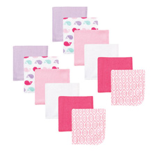 Luvable Friends 12-Pack Washcloths  Pink Whale