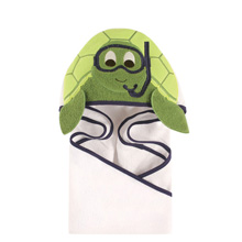 Hudson Baby Animal Hooded Towel - Scuba Turtle