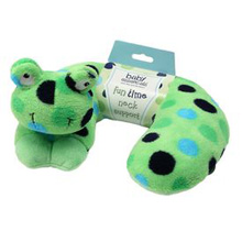 Baby Essentials Frog Headrest Pillow Green