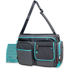 Fisher Price Trim Organizer Diaper Bag Teal