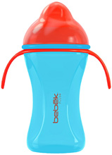 Bebek Baby 8oz Plus+ Flexible Spout Cup with handles With SenseFlo™ Silicone Valve, Out of This World