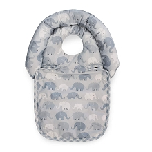Boppy Noggin Nest Head Support Gray Elephant  Plaid
