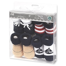 Petite L'amour Baby Booties 4-Pack 0-12 Months