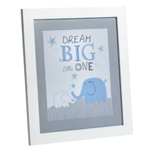 Zutano® Elefant Blau Framed Wall Decor