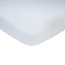 Carter's Cotton Knit Crib Sheet, Solid White