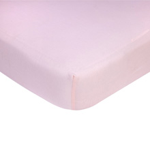 Carter's Cotton Knit Crib Sheet, Solid Pink