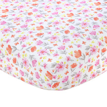 Carter's Cotton Sateen Crib Sheet, Floral Print