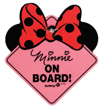 Safety 1st Minnie On Board Sign