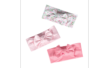 Just Born® Baby Girls' 3-Pack Organic Lil' Llama Headbands
