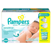 Pampers Sensitive Baby Wipes, 800 Count