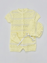 Ternura Baby Knit Short Set 3-Pieces 0-3 Months