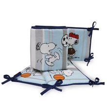 Bedtime Originals Snoopy™ Sports 4-Piece Crib Bumper