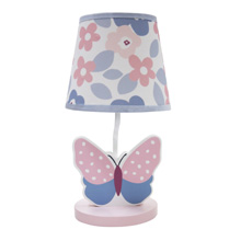 Bedtime Originals Butterfly Meadow Lamp with Shade & Bulb