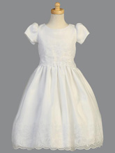 Lito Children's Wear Embroidered Organza Communion Dress