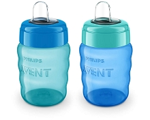Phillips Avent My Easy Sippy 9oz, 2 Pack Boy
