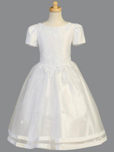 Lito Children's Wear Satin & Tulle Communion Dress