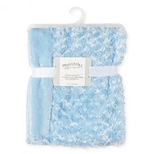 Rose Textiles Curly Plush Blanket - Blue
