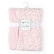 Rose Textiles Curly Plush Blanket - Pink