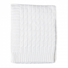 Rose Textiles Cable-Knit Blanket - White