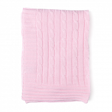 Rose Textiles Cable-Knit Blanket - Pink