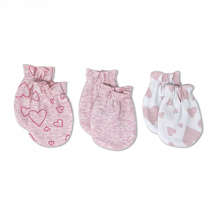 Rose Textiles Heather Mitts 3 Pack - Pink