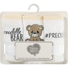 Precious Moment Bear Washcloth 3 Pack - Brown