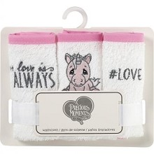 Precious Moment Unicorn Washcloth 3 Pack - Pink